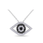 925 sterling silver turkish evil eye crystal choker necklace wholesale
