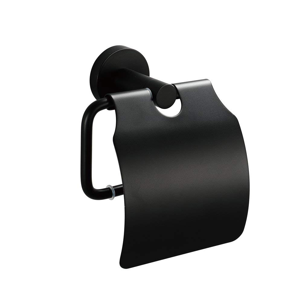 Black Paper Stainless Steel Towel Holder Wall-Mounted Stainless Steel Black Paper Towel Holder Bathroom Hardware Accessories
