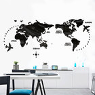 Custom printing world map vinyl large wall sticker for home decoration