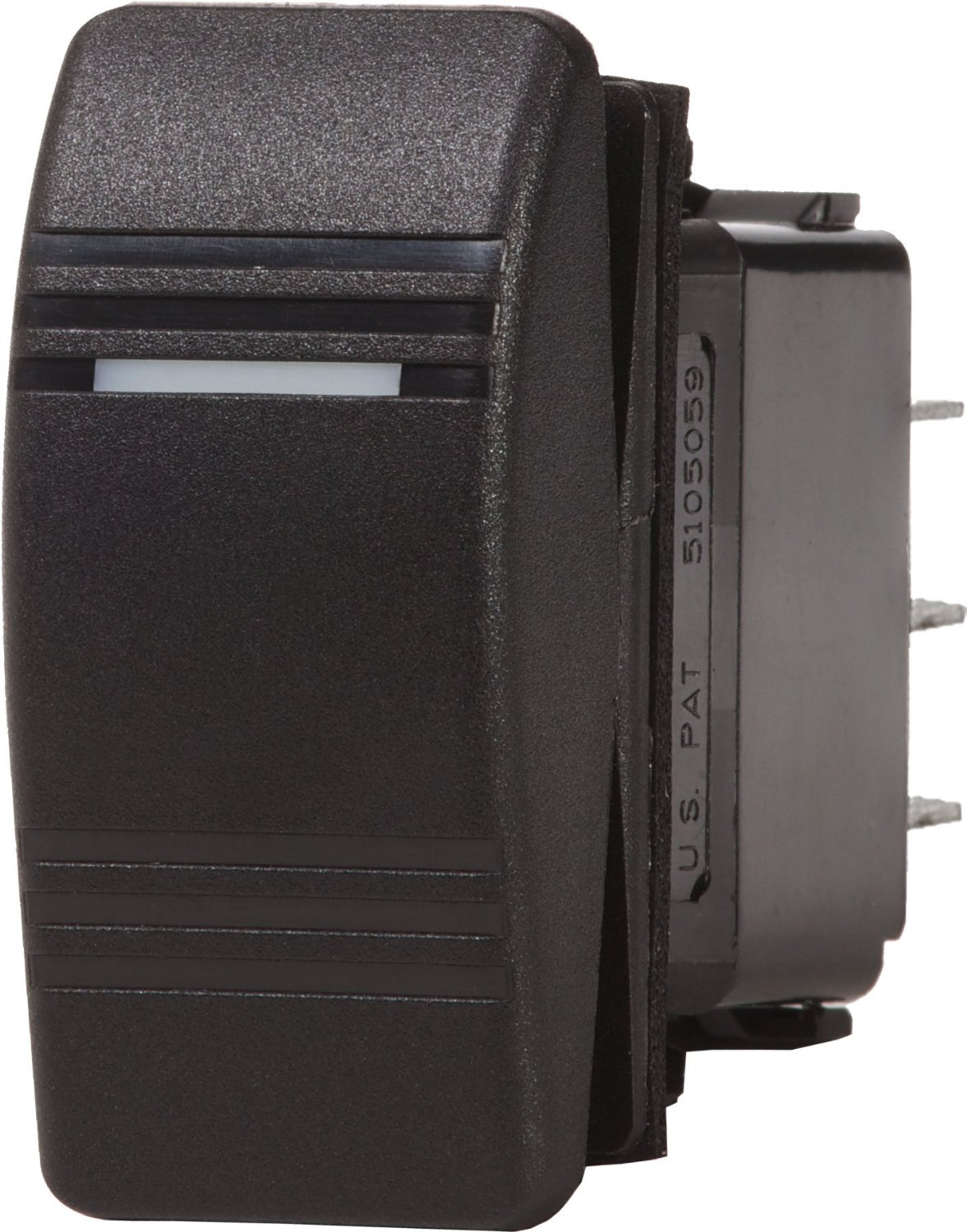 Blue Sea Systems Water Resistant Black & Gray Contoura III Switches