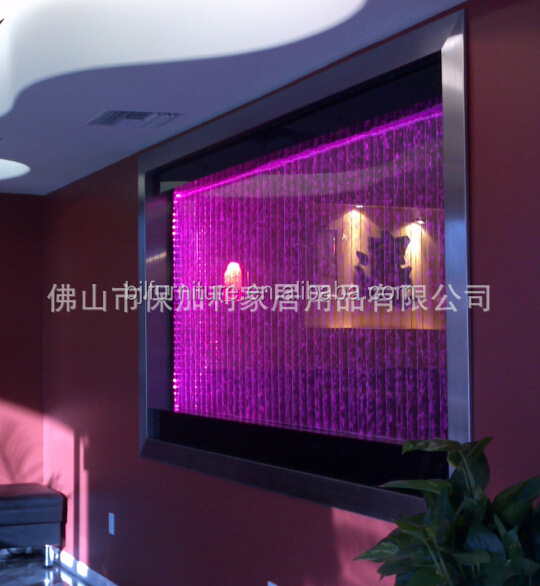 night club furnitur led acrylic wall <strong>decor</strong> with bubble and colorful light