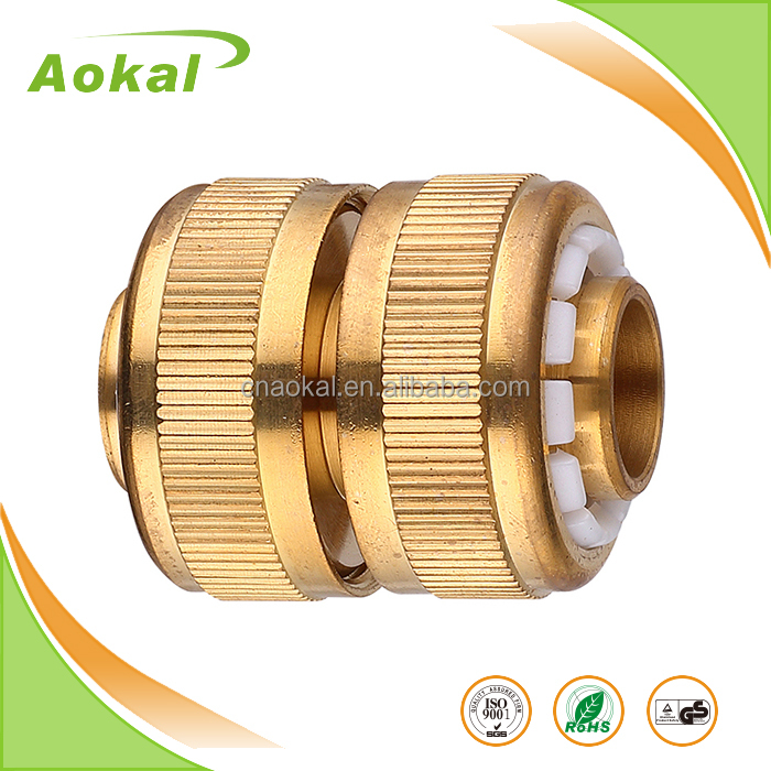 "1/2"" brass pipe fitting hose mender quick connect coupling brass plumbing fitting"