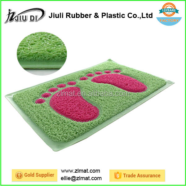 PVC Material and bathroom mat Adults Age Group pvc coil mat