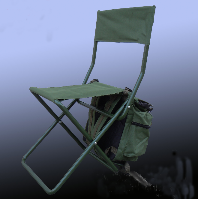 BP05 Definite outdoor folding fishing camping barbecue folding backpack chair with ice cooling bag thermo insulation bag