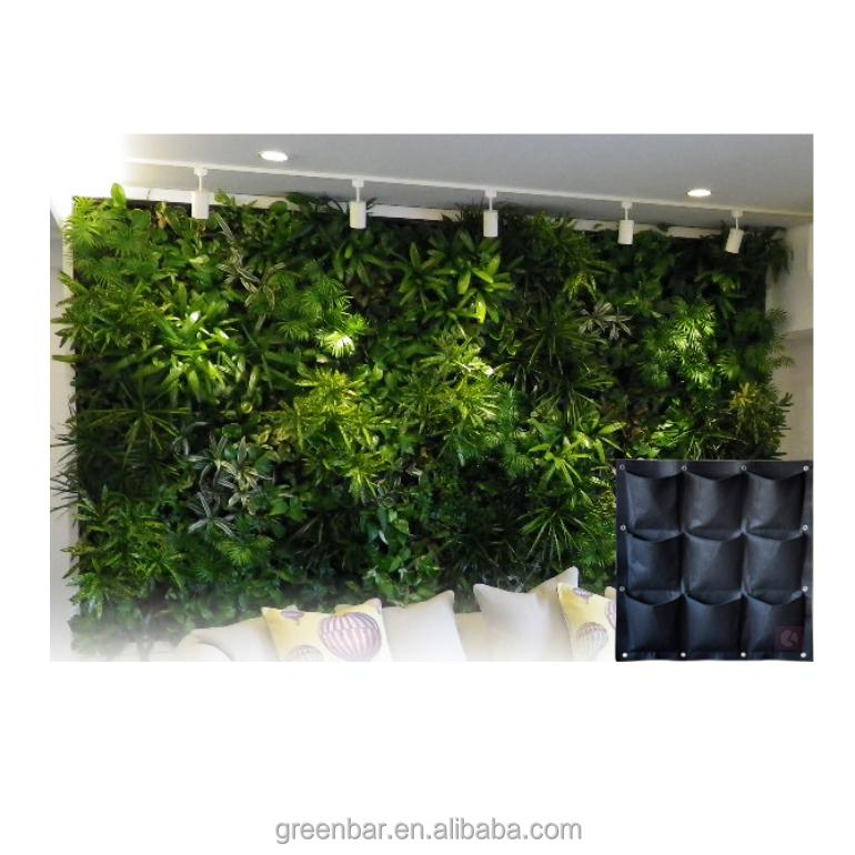 Supply Green Wall With Felt Fabric Vertical Garden Grow Bag ...