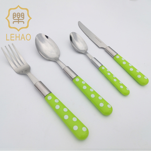 High Quality New Design Good Selling Plastic Handle Cutlery