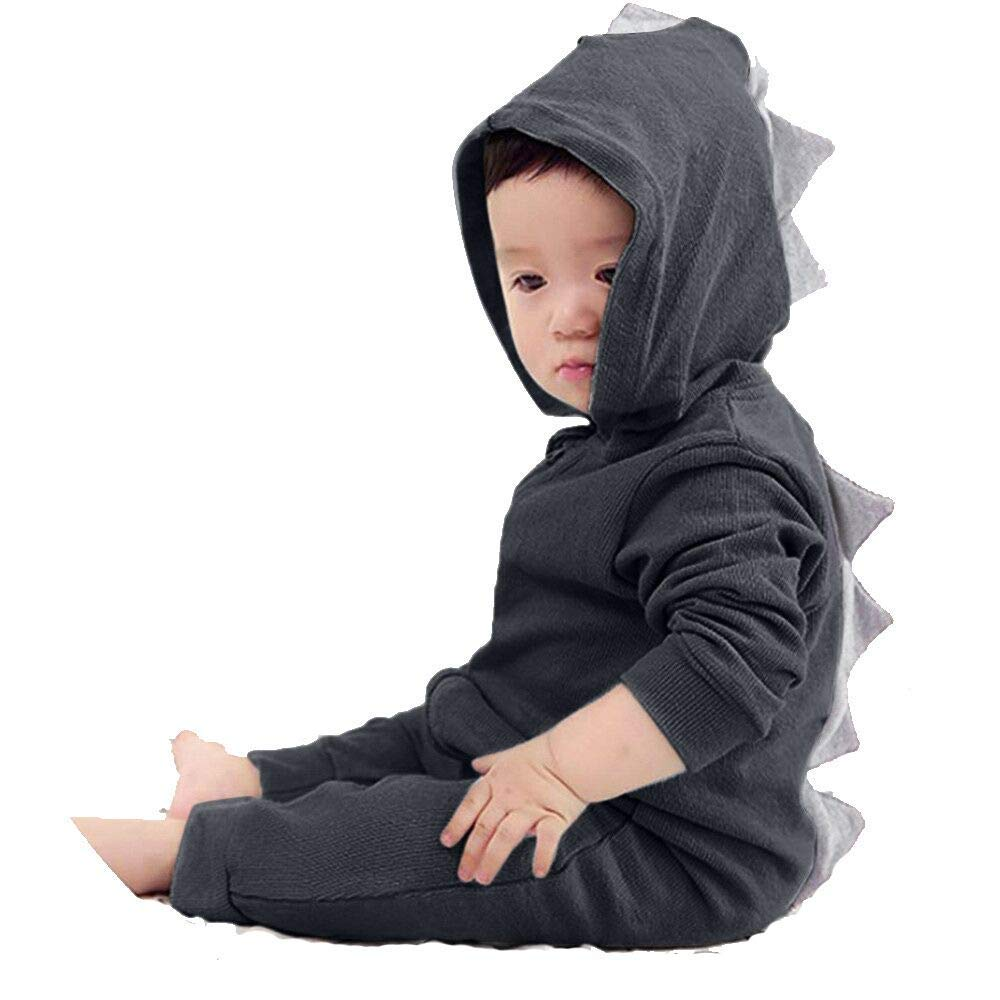 cc345e1078b7 Buy Toddler Newborn Kid Baby Boys Girls Long Sleeve Hoodie Zip Dinosaur  Jumpsuit Outfits Clothes in Cheap Price on m.alibaba.com