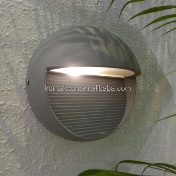 Modern outdoor 3w round led wall lights down lighting ip65 3 years warranty