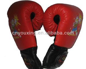 Red color kids boxing gloves