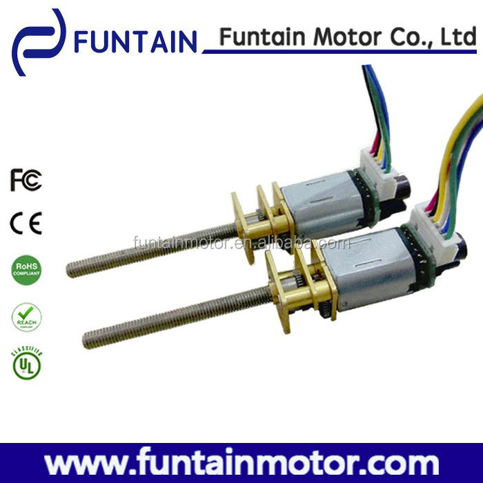 High Quality Long screw shaft gear motor 6v n20 dc gear motor with encoder available