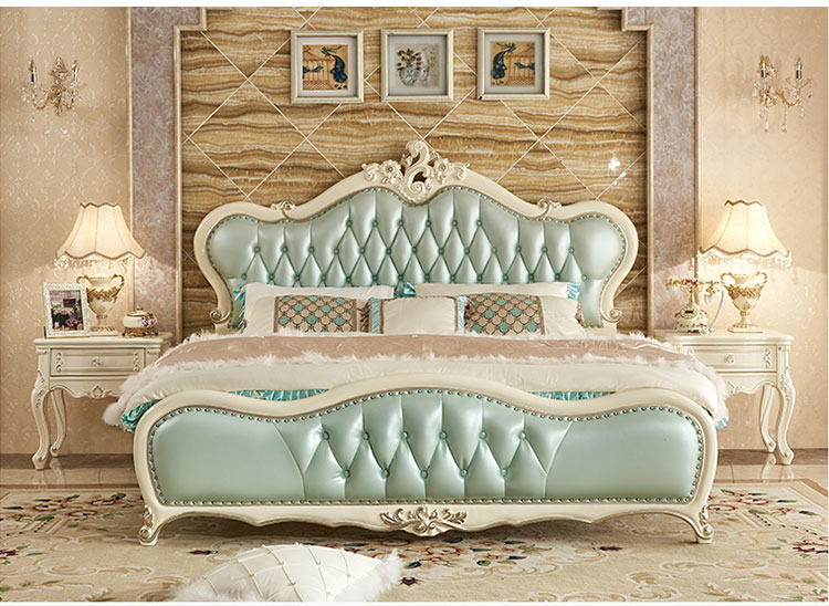 Custom Europe Style Italian Furniture Luxury Classic King Size