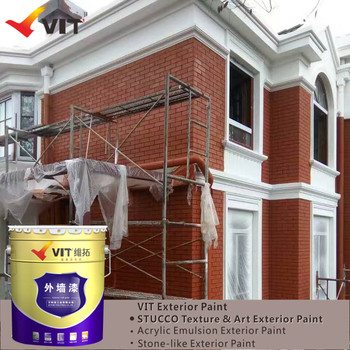 Liquid Coating State And Acrylic Main Raw Material Texture Paint For Exterior  Wall
