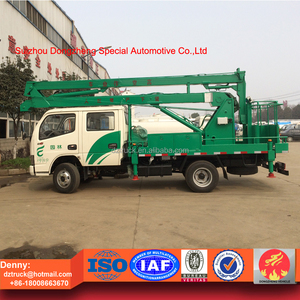 China made 4x2 12-14 meters aerial operation platform truck