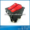 hot sale 16A 250V electrical rocker switches for electric fireplace