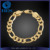 Polished High Quality 18K Gold Jewelry Figaro Chain Bracelet Wholesale on Alibaba