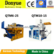 QTM6-25 New arrival low cost cement block making machine/german concrete hollow block making machine
