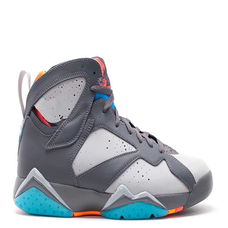 821f7bfff160 Get Quotations · air jordan 7 retro barcelona days dark grey blue wolf grey  basketball shoes