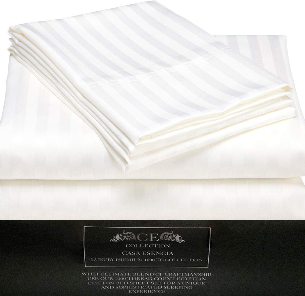 Get Quotations Ce Casa Esencia Luxury 100 Egyptian Cotton Sheets 1000 Thread Count 4 Piece Extra Deep