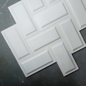 Rectangle silicone wall tile molds rubber Cement 3D decorative wall Forms concrete panels mold