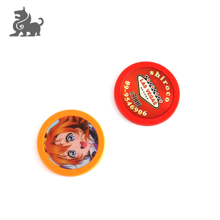 Custom goedkope gokken tokens casino plastic poker chips custom
