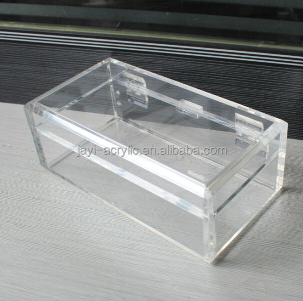 Acrylic Box With Led : Manufacturing clear acrylic display box with hinged lid