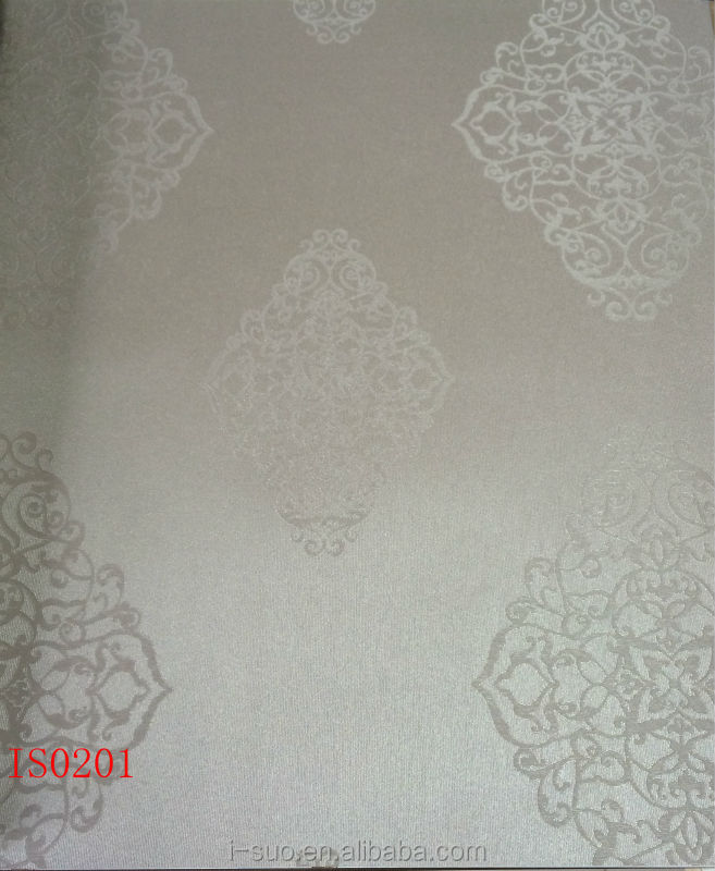 2012 modern home interior european embossed pattern luxury PVC wallpaper