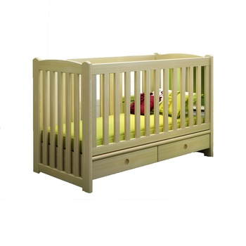 2018 Newest OEM Eco-friendly Pine Wood Kids Bedroom Furniture 3 in 1 Baby Cribs with Under Drawers