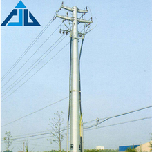 China traffic galvanized polygonal 10m to 100m electrical transmission tubular steel pole