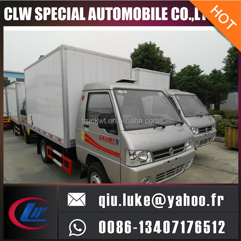 China 4x2 mini insulated electric Cargo Truck with cheap price