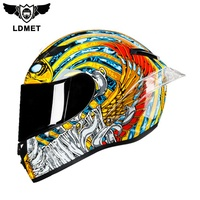 Low Price Cool Black Retro Vintage Full Face Motorcycle Helmets for Sale