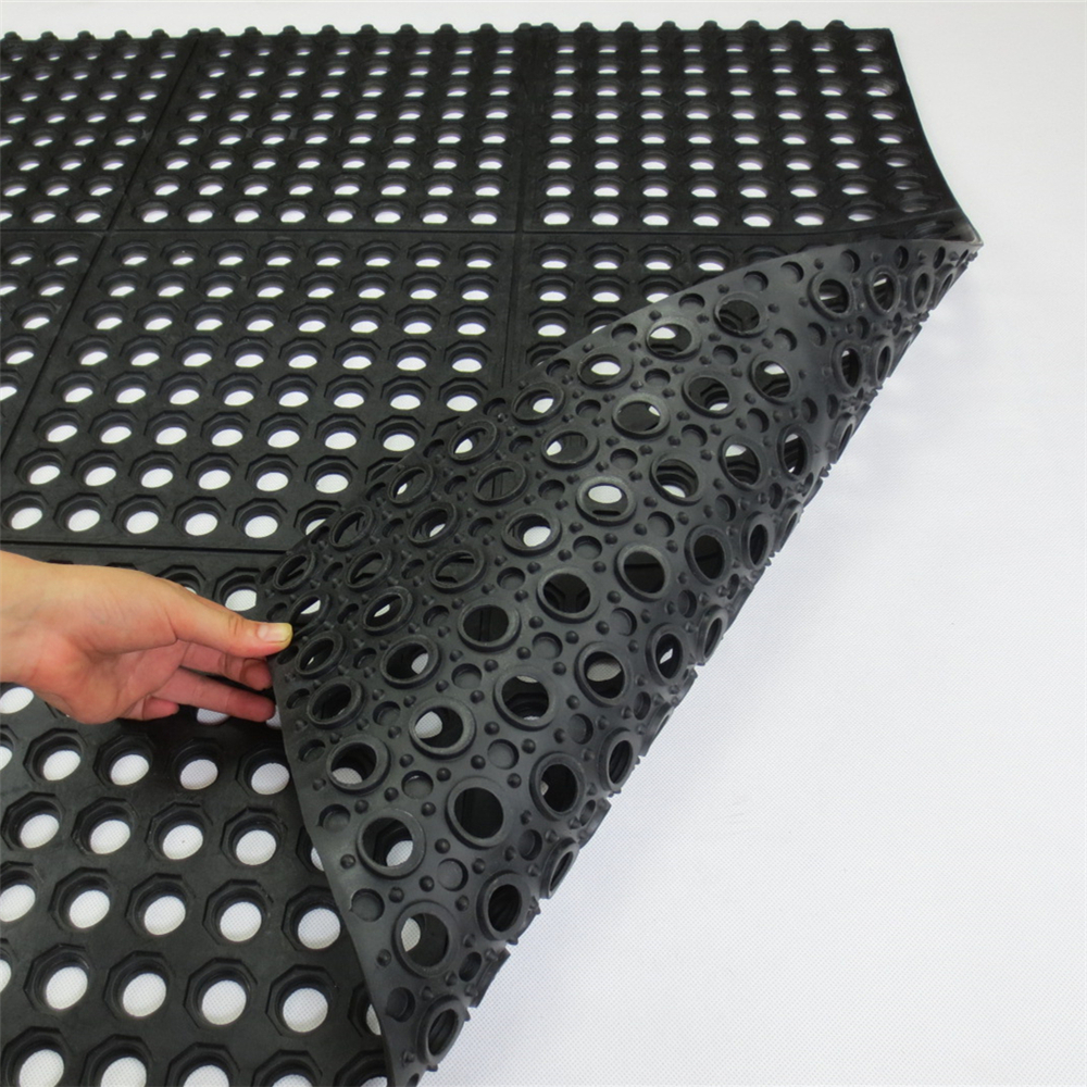 Anti Slip And Anti Fatigue Interlocking Cheap Rubber Floor