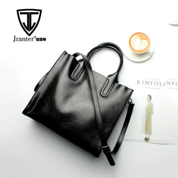 Custom Logo Own Branded Genuine Leather Handbag Women Shoulder Bag