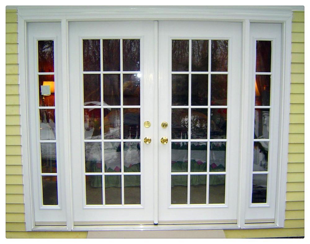 Aluminio moderno patio columpio puerta puertas for Puertas para patios modelos