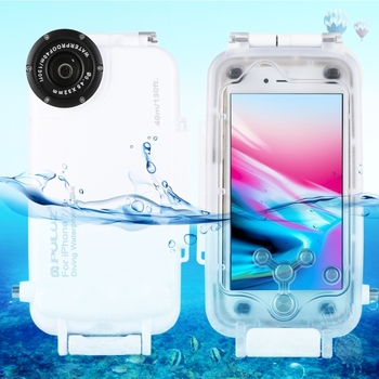 PULUZ 40m/130ft Waterproof Diving Housing Photo Video Taking Underwater Cover Case for iPhone 8 for iPhone 7 Online Shopping