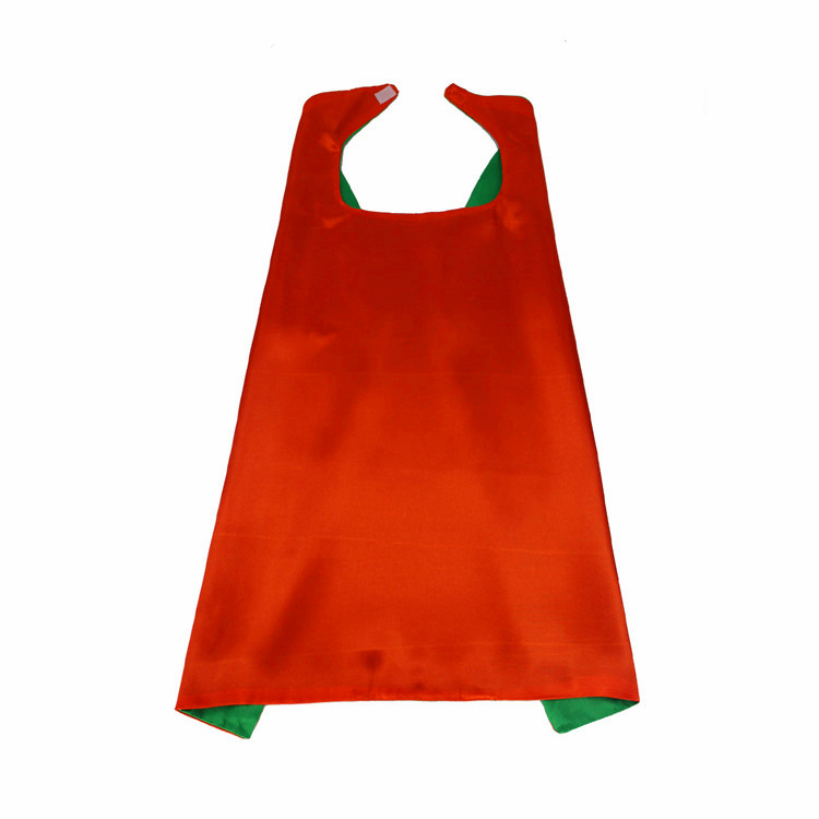 Double Layer Reversible Cloak Blank Solid Costume Carnival Party Capes For Both Kids and Adults