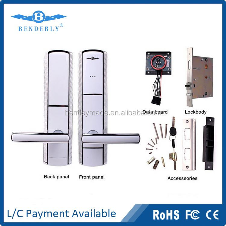 Electrical hotel lock with patent cylinder Hotel RFID card lock system for hotels