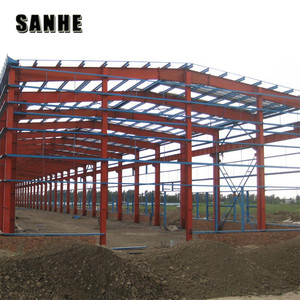 Inside Layout of Steel Structure Frame with Cladding