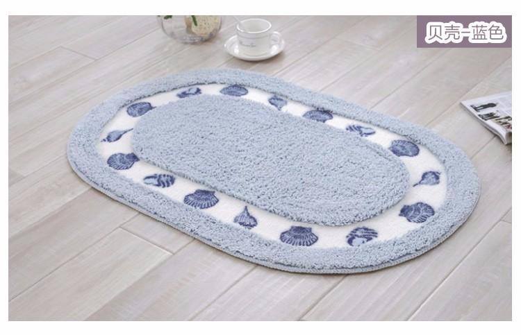 Großhandel Bad Teppiche Badteppich Ovale Badematten Groß Teppiche Pad Zum Badezimmer40x60cm 50x80cm Beige Pink Blau Kaffee Lila Von Aldrichy