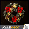 2015 Newest Red flowers festival led light Christmas Wreaths lights