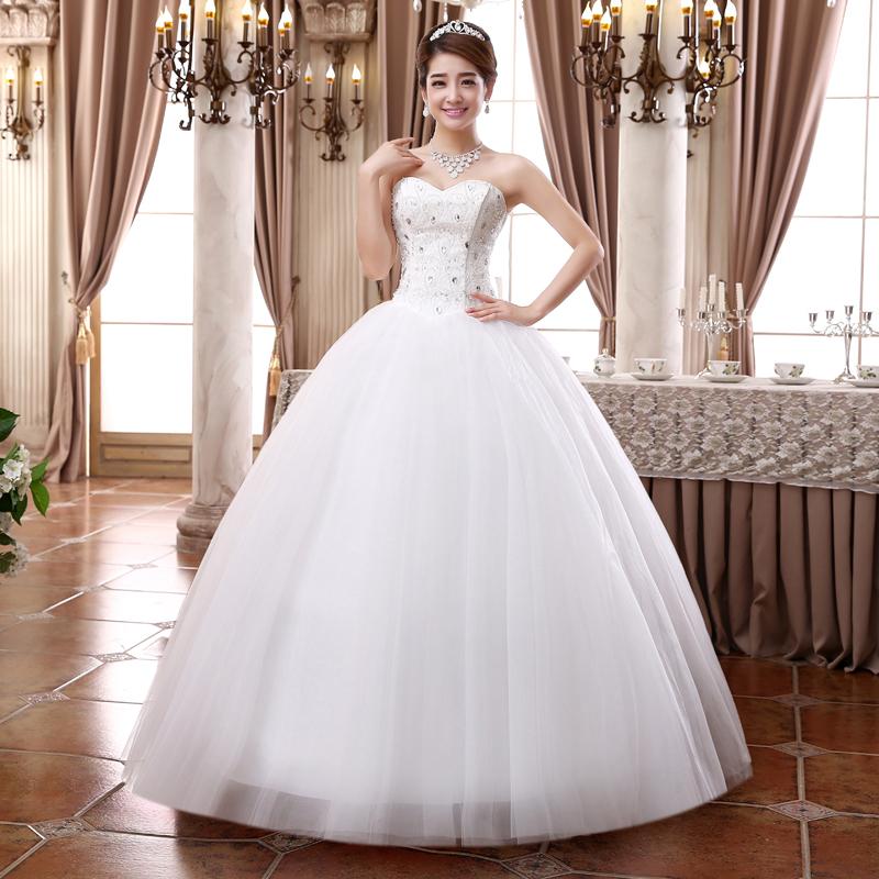 diamond top wedding dress -#main