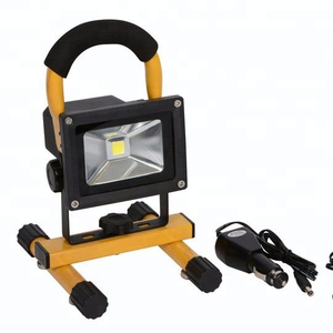10w rechargeable led flood light with car charger and UK/US plug