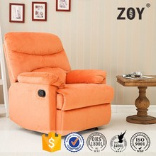 Leisure indoor furniture orange fabric recliner push back recliner sofa chair ZOY 9149A51