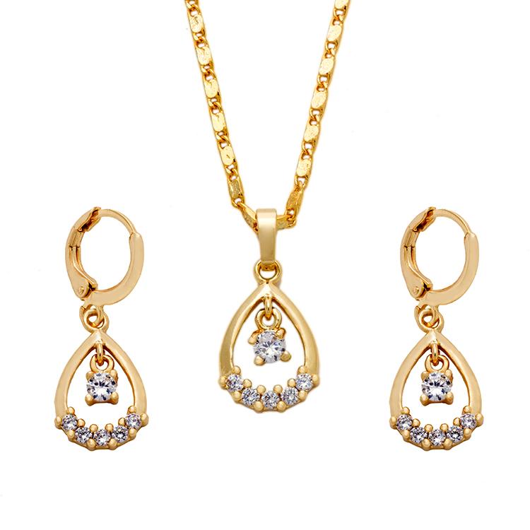 Whole 22k Dubai Crystal Saudi Gold Jewelry Set Price Jewellery