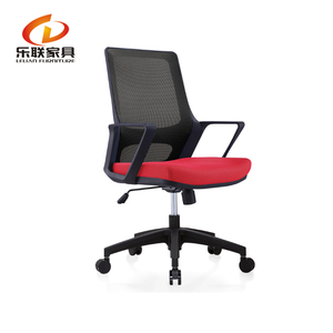 Modern Ergonomic furniture Mesh Computer Office Desk Midback Task Chair Red Color