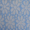 Chic two tone floral nylon/spandex raschel lace fabric for apparel