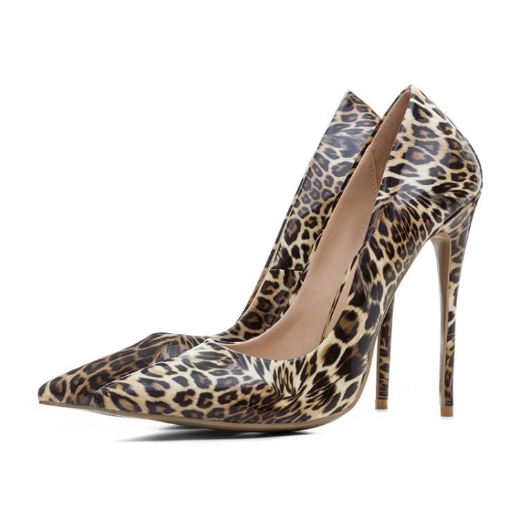 on high Sexy toe fashion shoes elegant Leopard pointed heel pumps slip women LXUNYI 2018 UXBwq