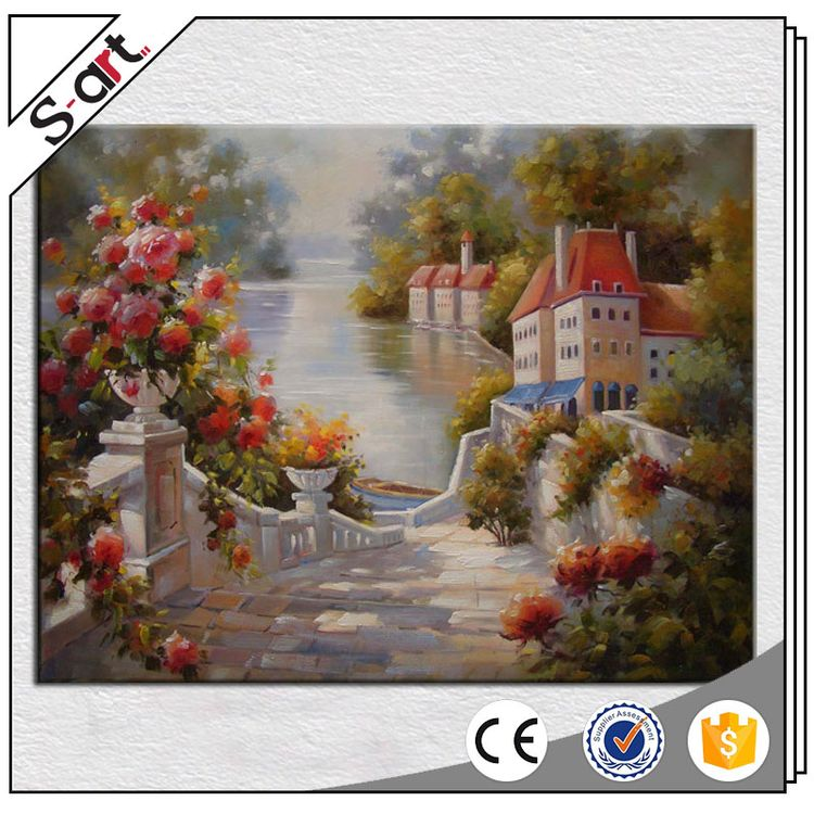 Top quality new products landscape oil painted pictures