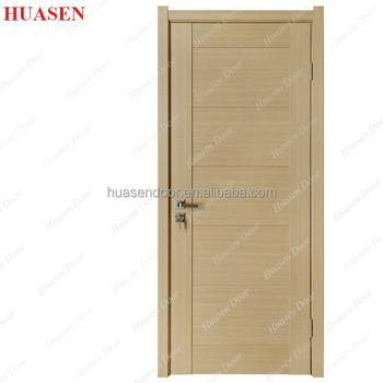 5 Panel Flat Solid Wood Plastic Coated Interior Doors Product On Alibaba