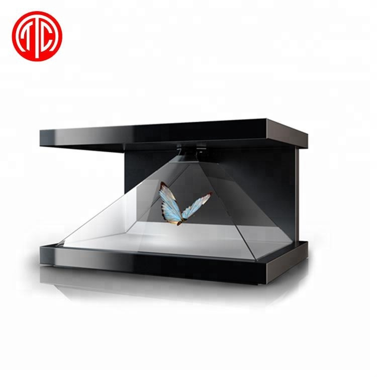 3d holografik ekran lcd monitör dijital tabela hologram kutusu vitrin reklam kapalı piramit ekran makinesi usb totem