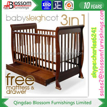 Wooden Nursery Cot In Walnut Color Buy Teak Wood Cot Cot Bed Wood Furniture Wooden Cots Product On Alibaba Com